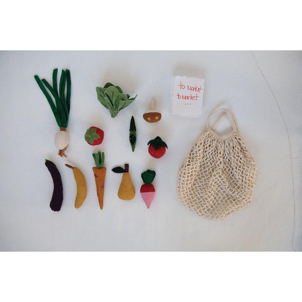 fruits & veggies canvas bag