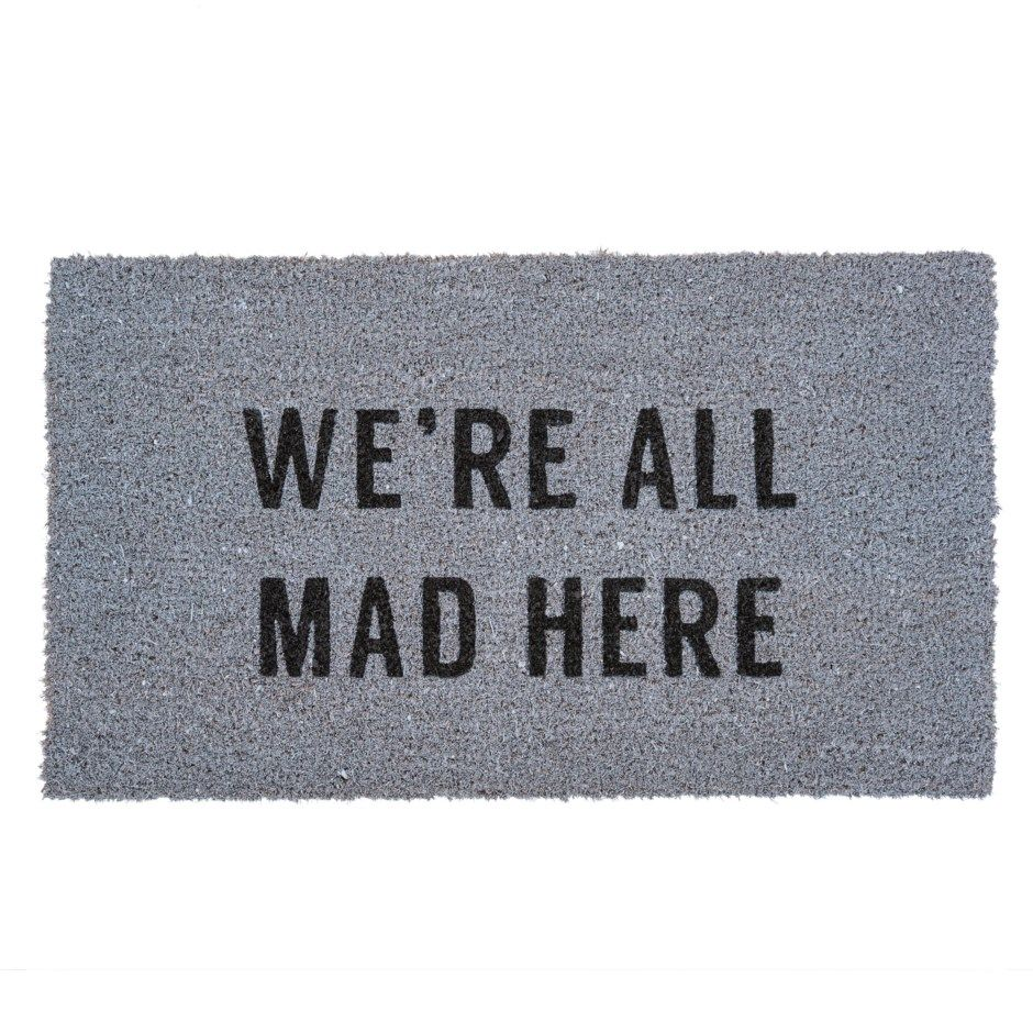 all mad here doormat