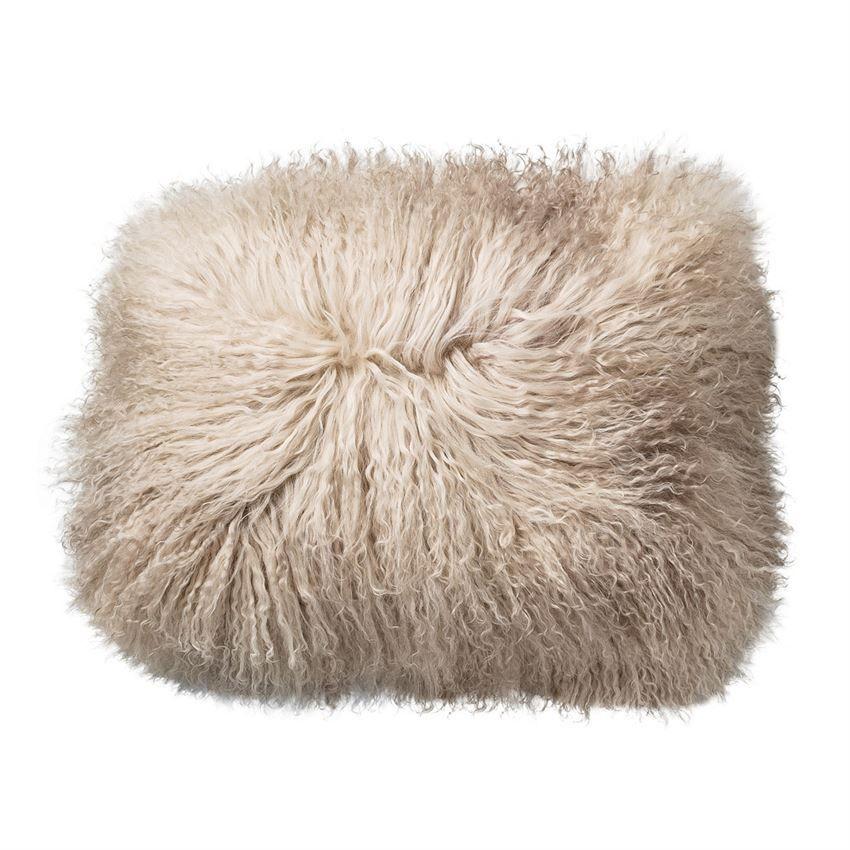 sand lamb fur pillow