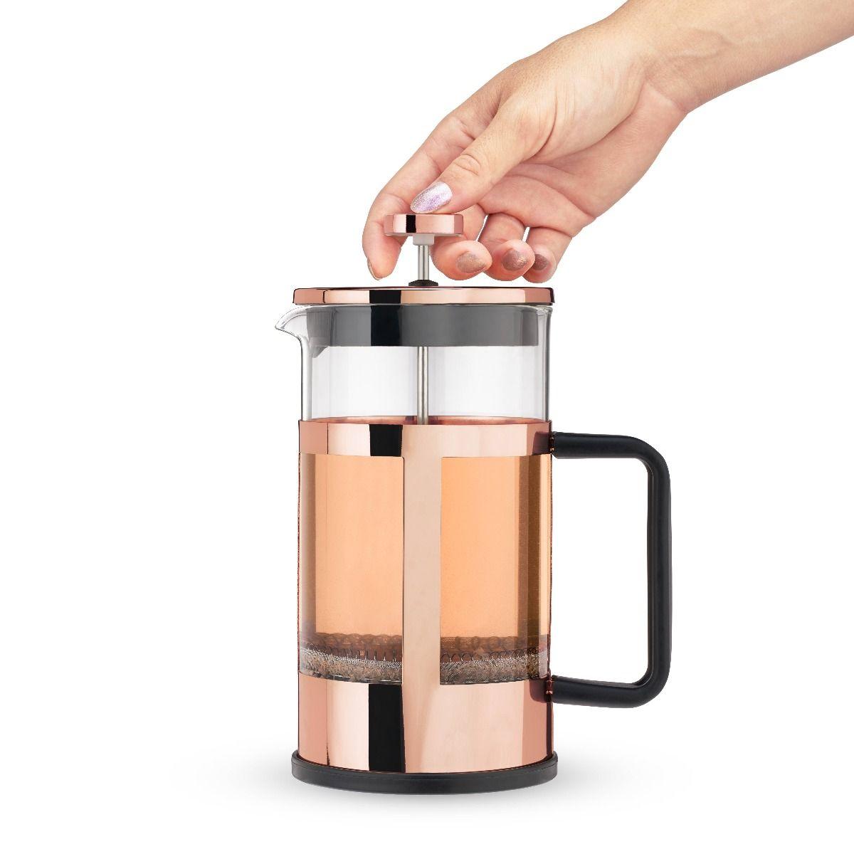 piper rose gold press pot