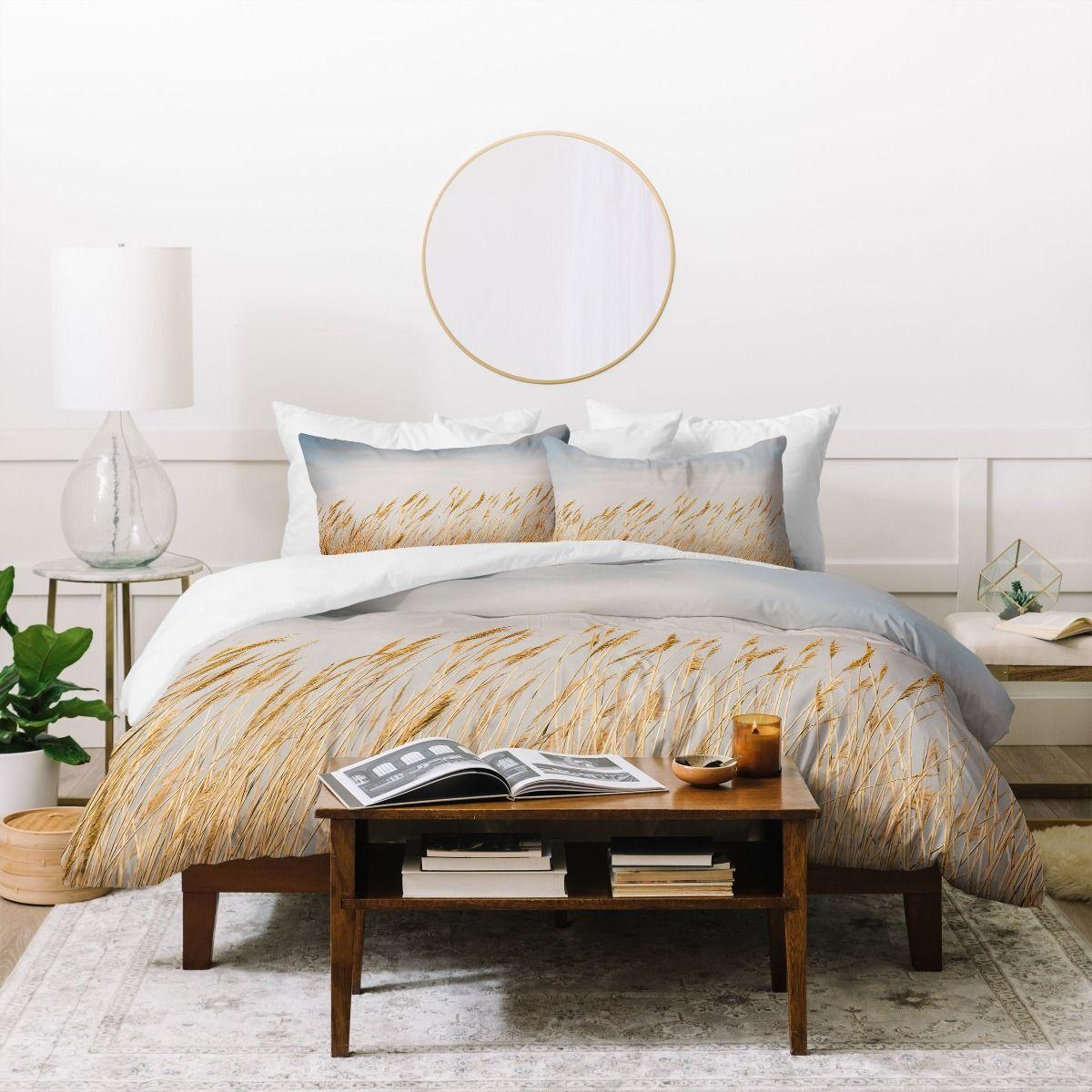 nantucket gold duvet cover & pillow shams