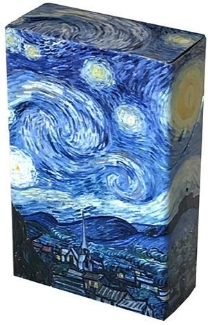 Mini Hinged Tin Box - Van Gogh Starry Night