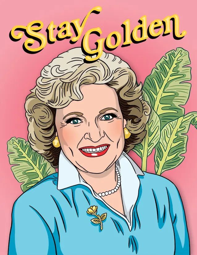 betty white stay golden card