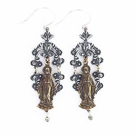 the mary chandelier earrings