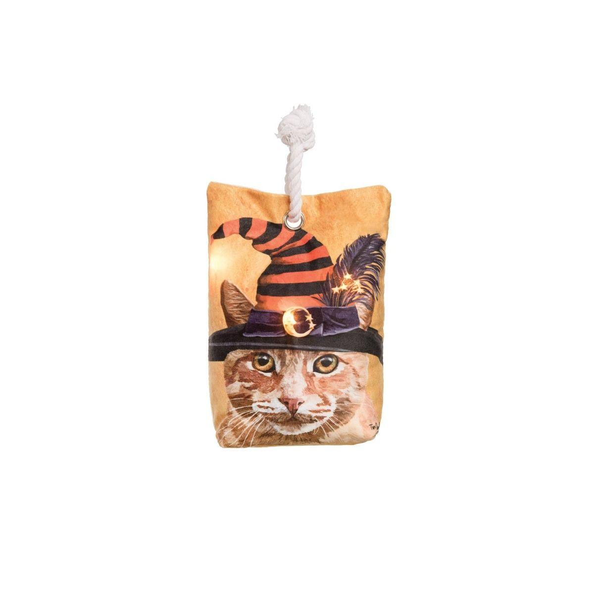witch cat LED doorstop