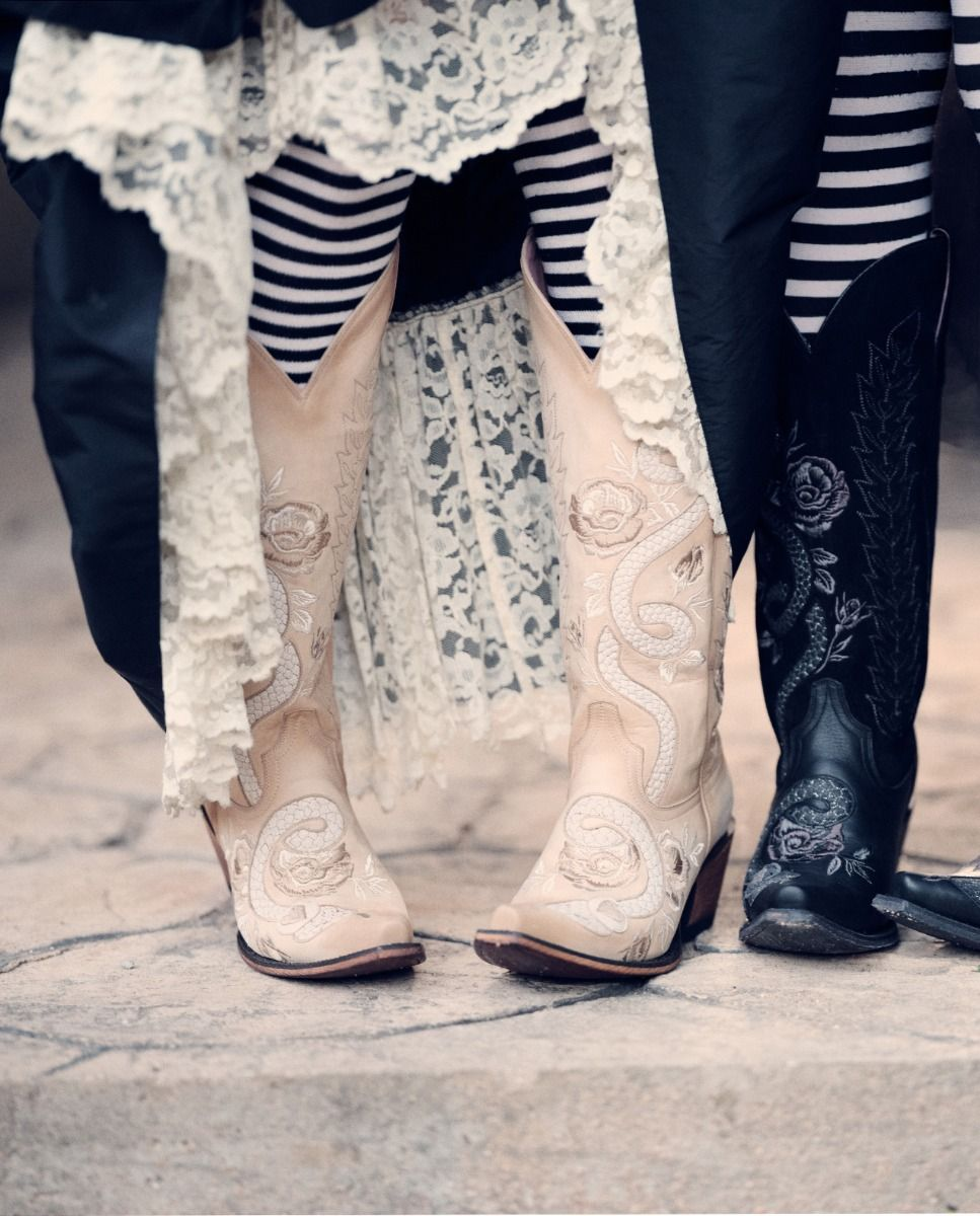 charmer boot - bone