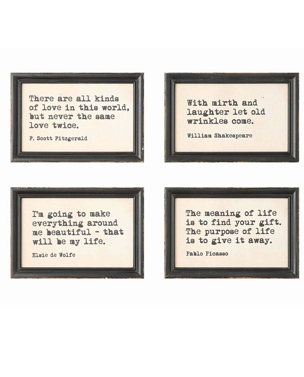 words to live by framed art