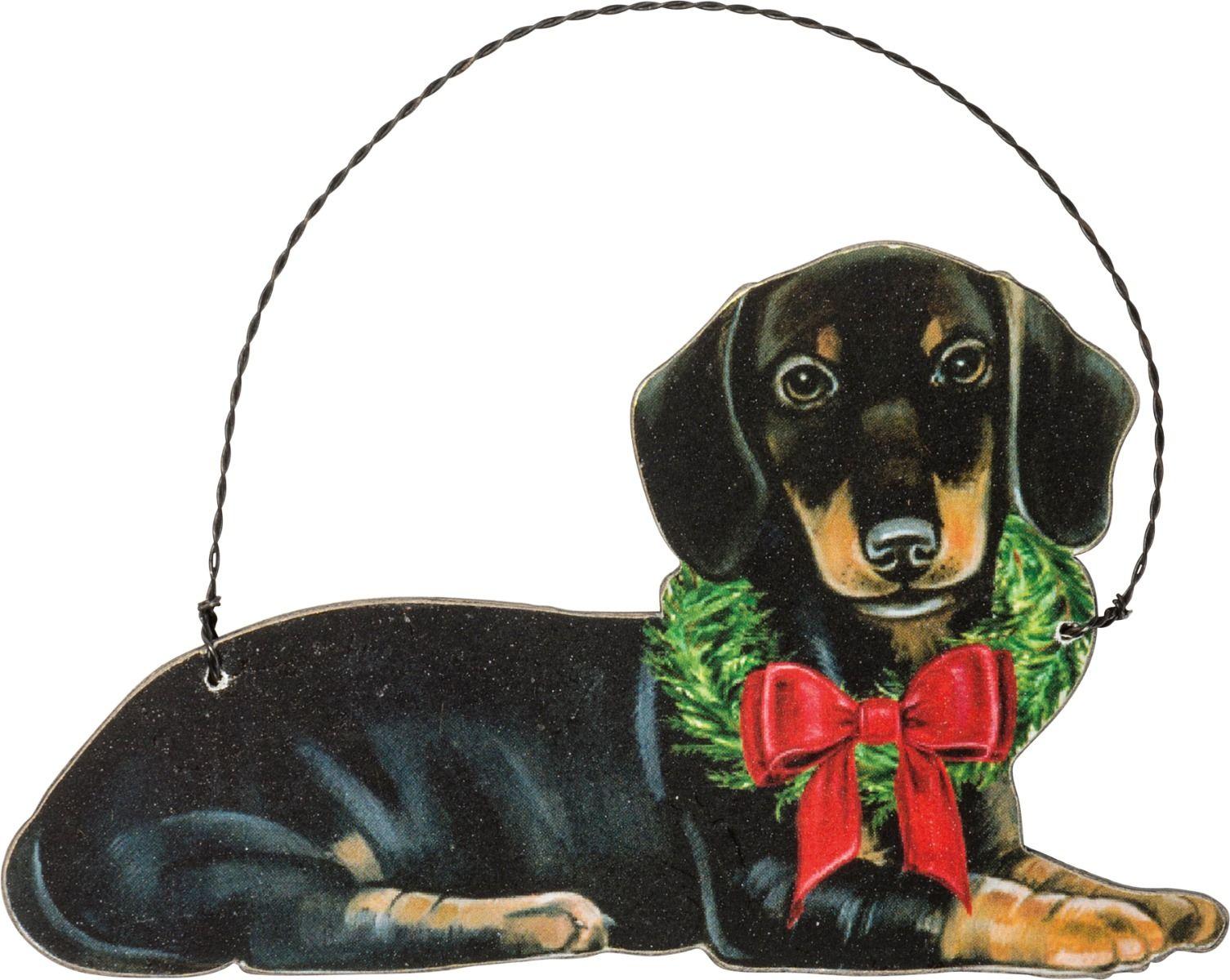 christmas dachshund ornament