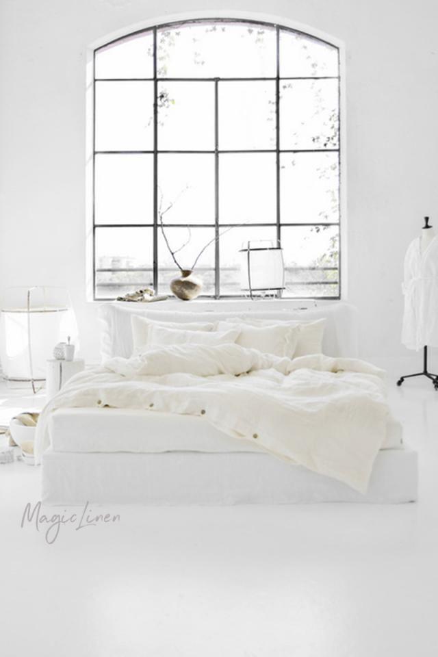 Magic Linen Ivory Duvet Cover