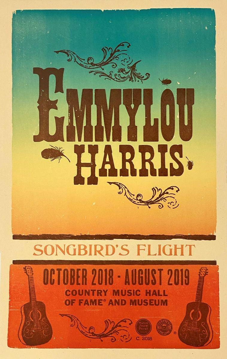 Hatch Showprint Emmylou Harris Exhibit Poster