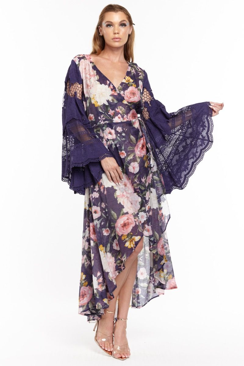the floral queen maxi dress