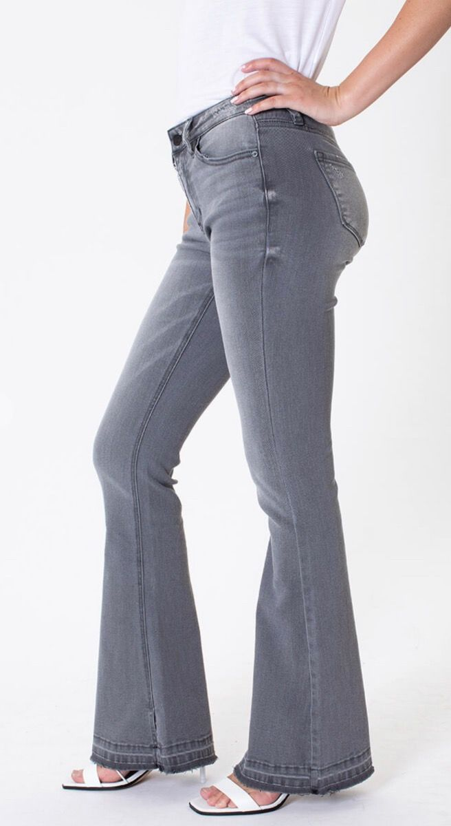 Kancan wesley mid rise flare jeans