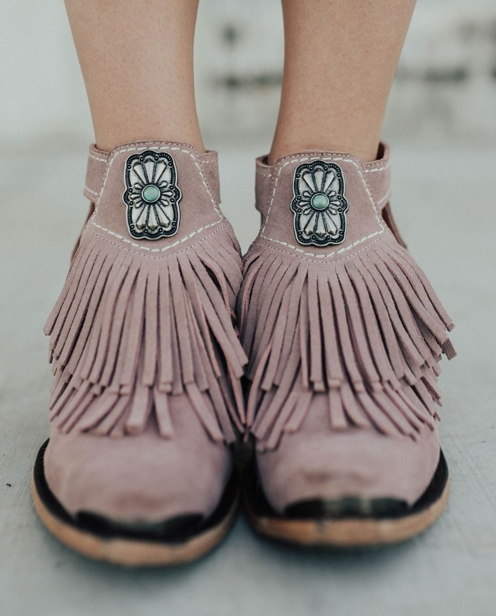 kiss me at midnight bootie - blush