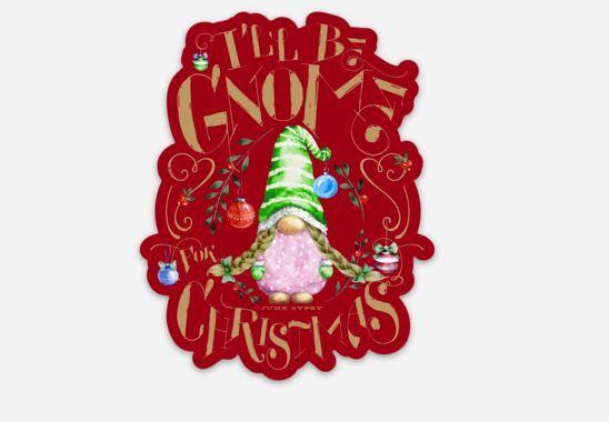 gnome christmas sticker