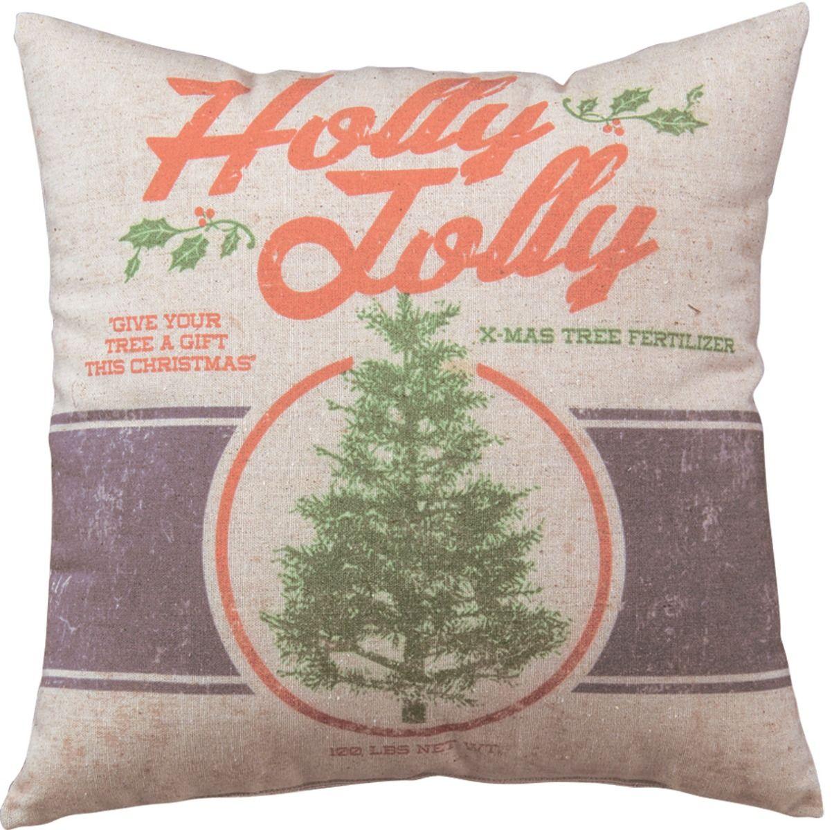 holly jolly pillow