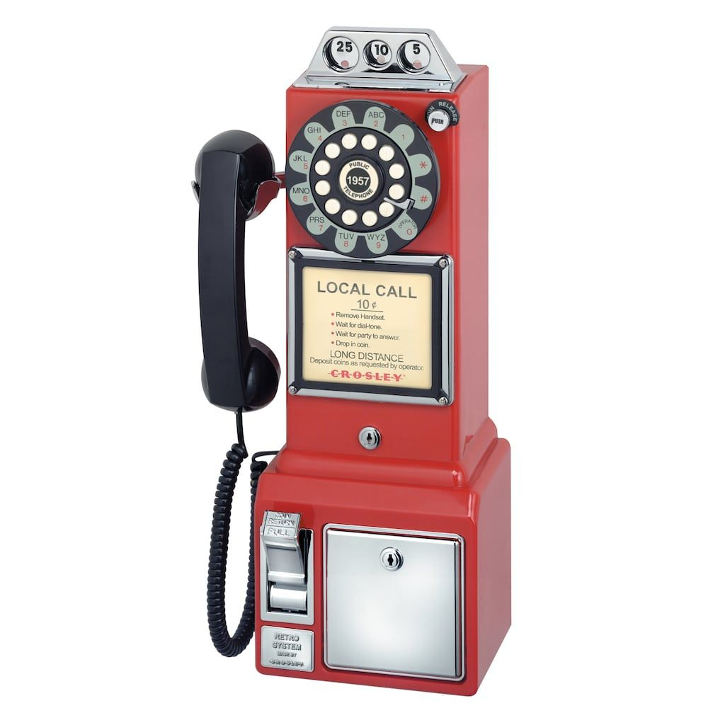 retro red payphone