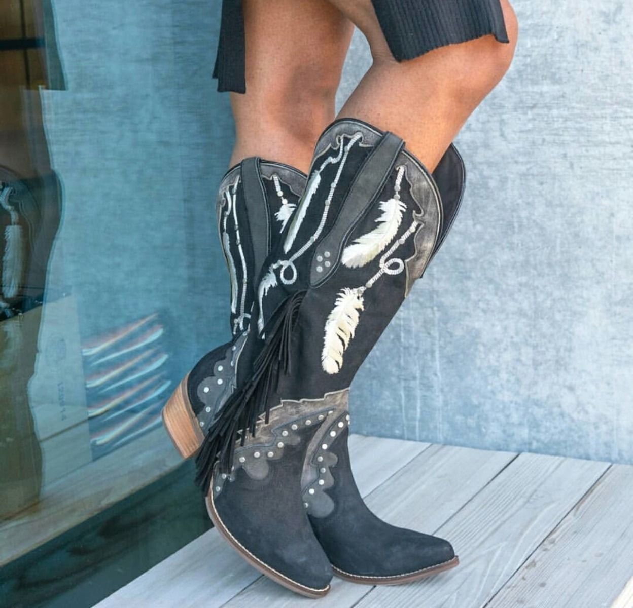 dream catcher leather boot