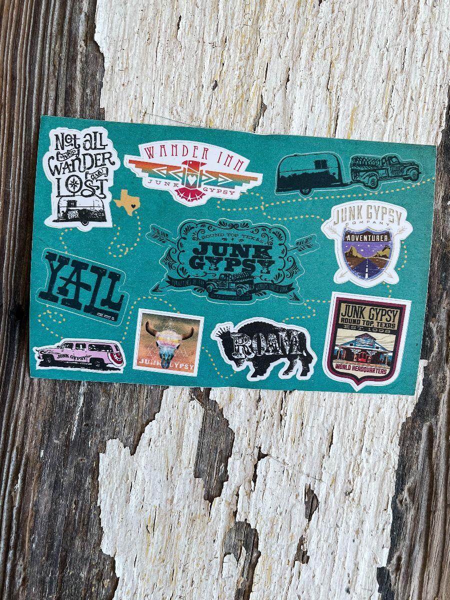 turquoise sticker sheet