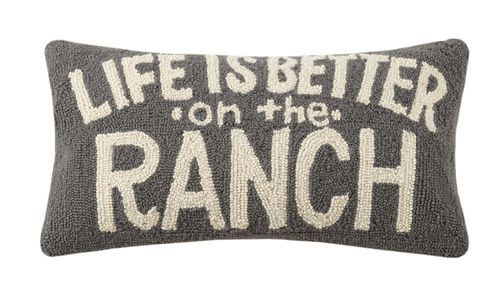 life is better on ranch hook pillow