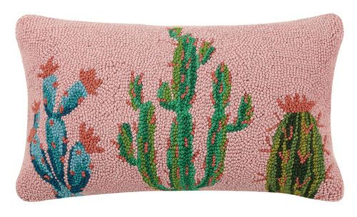 pretty cactus hook pillow