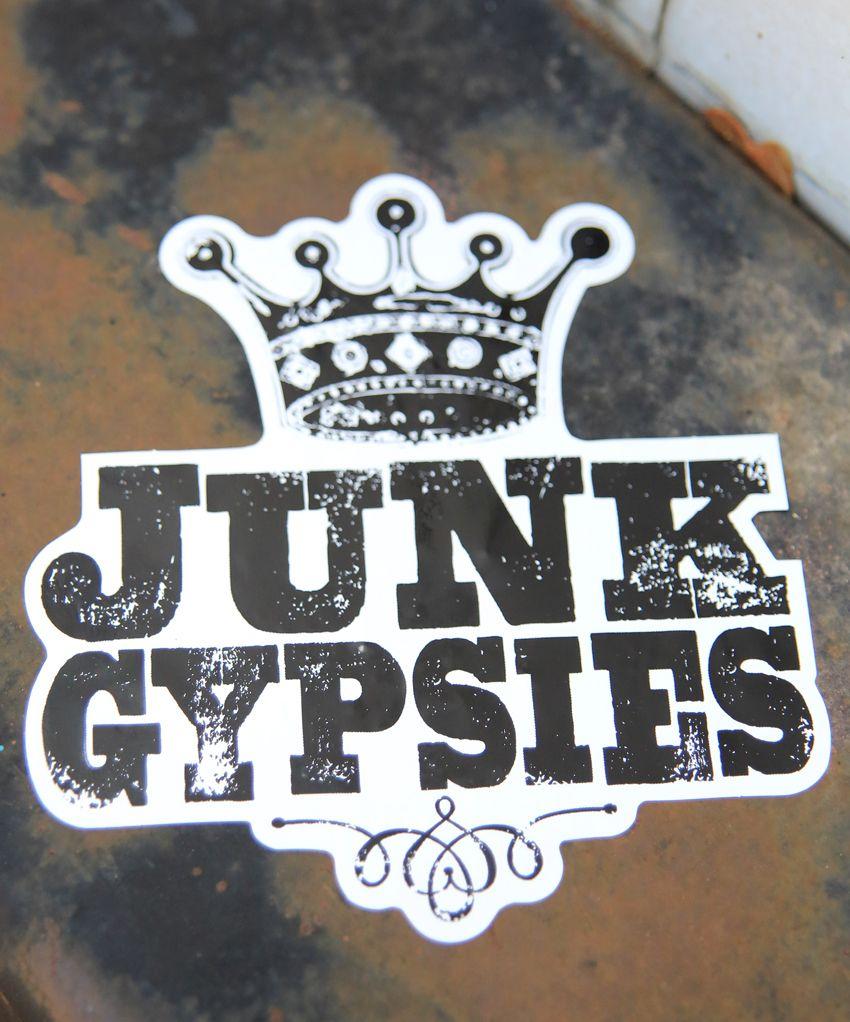 junk gypsies logo sticker