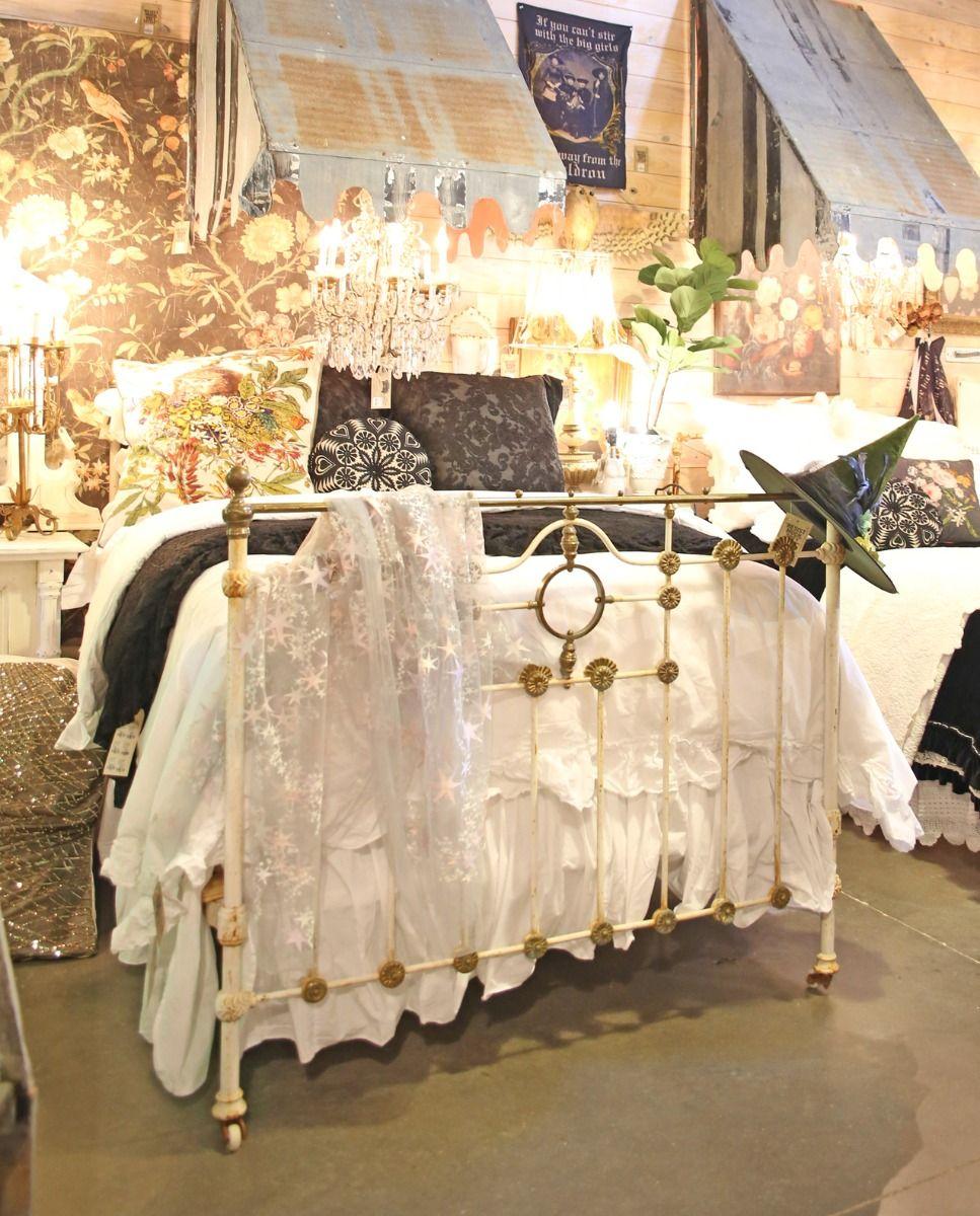 vintage belladonna iron bed