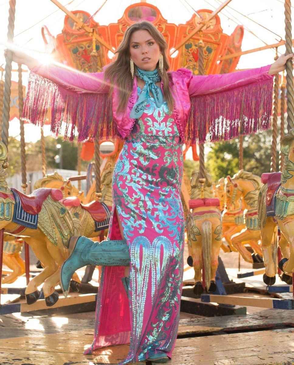 Carousel nights sequin maxi dress
