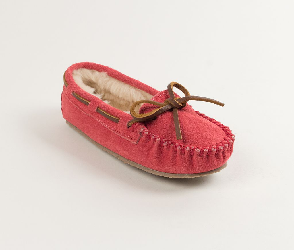 cassie girl trapper slipper - hot pink