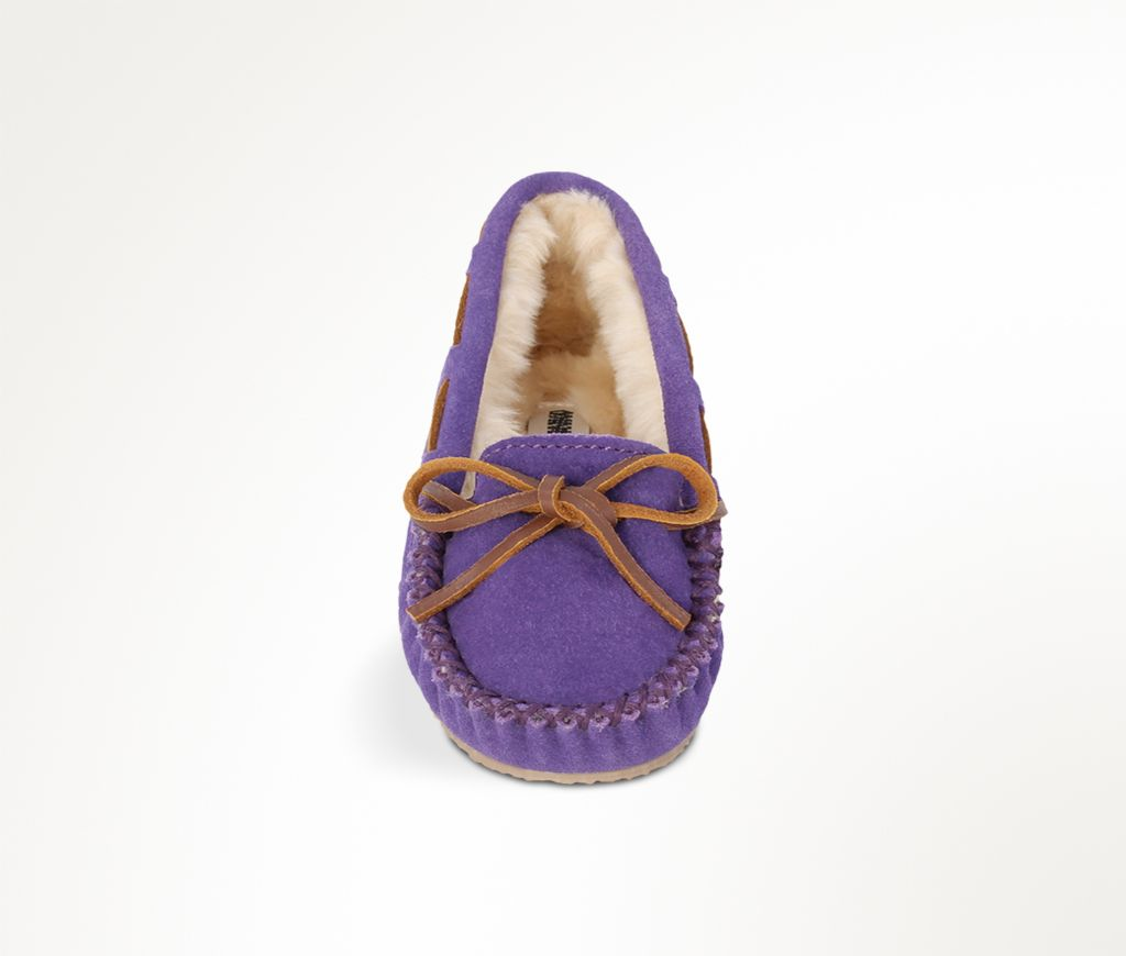 cassie girl trapper slipper - purple