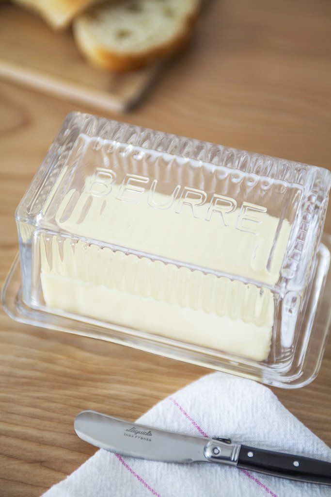 Beurre Glass Butter Dish
