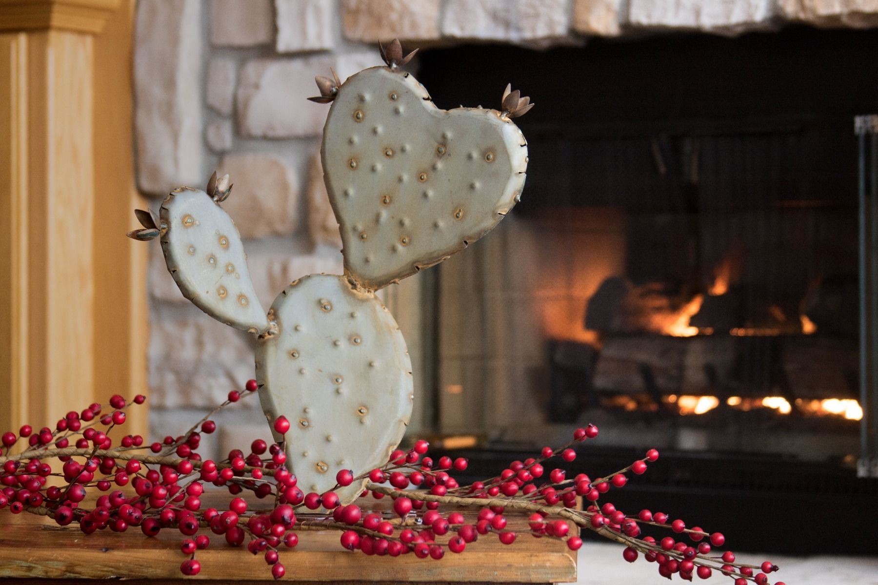 Desert Steel Prickly Pear - Heart