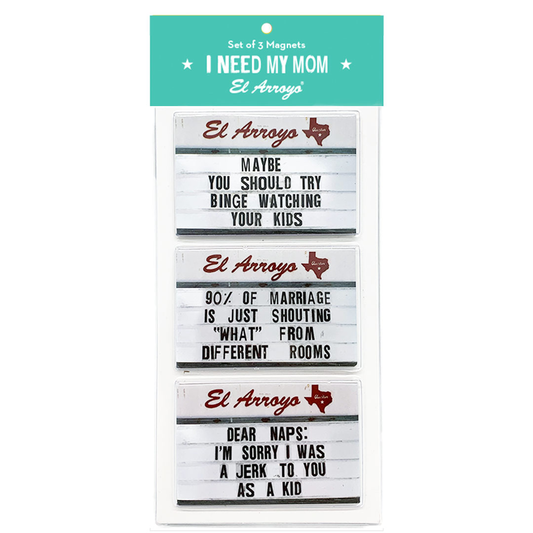 el arroyo magnets - set of 3
