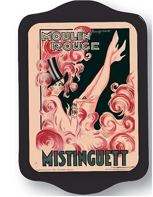 Mini Tin Tray Misinguett Moulin Rouge