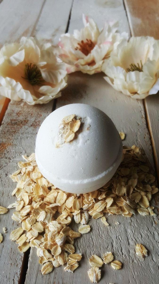 oatmeal creme bath bomb