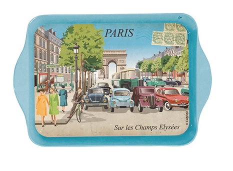 Paris Sur Les Champs Elysees Mini Metal Tray
