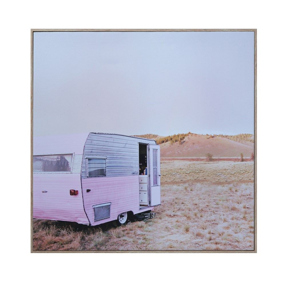 pink camper wall decor