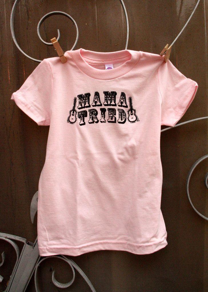 mama tried kids tee - pink
