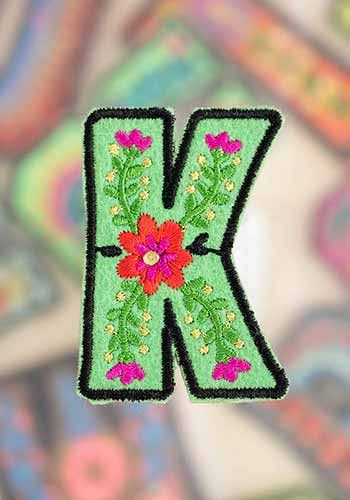 "letter patch ""k"""