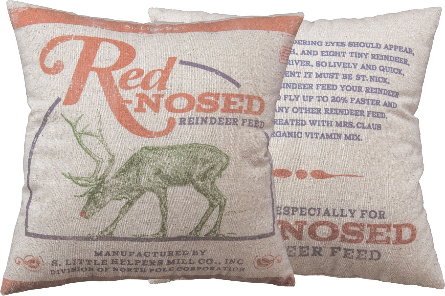 red-nosed pillow