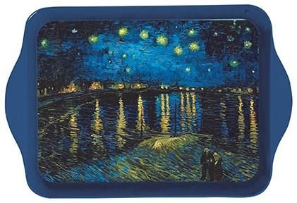 Van Gogh Starry Night over the Rhone Mini Metal Tray