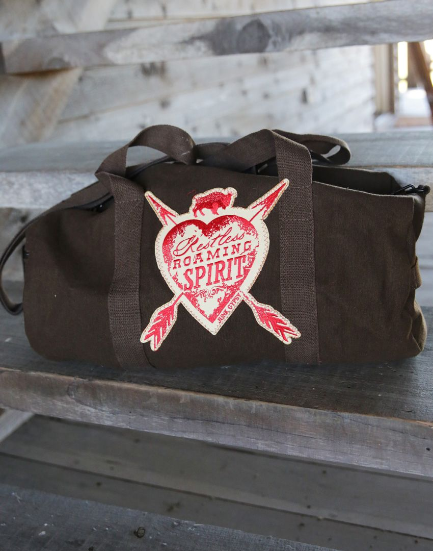 restless roaming spirit small duffle bag