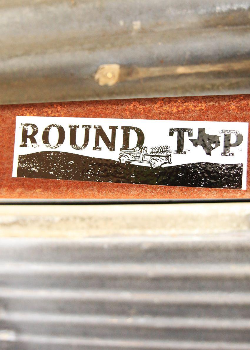 round top bumper sticker