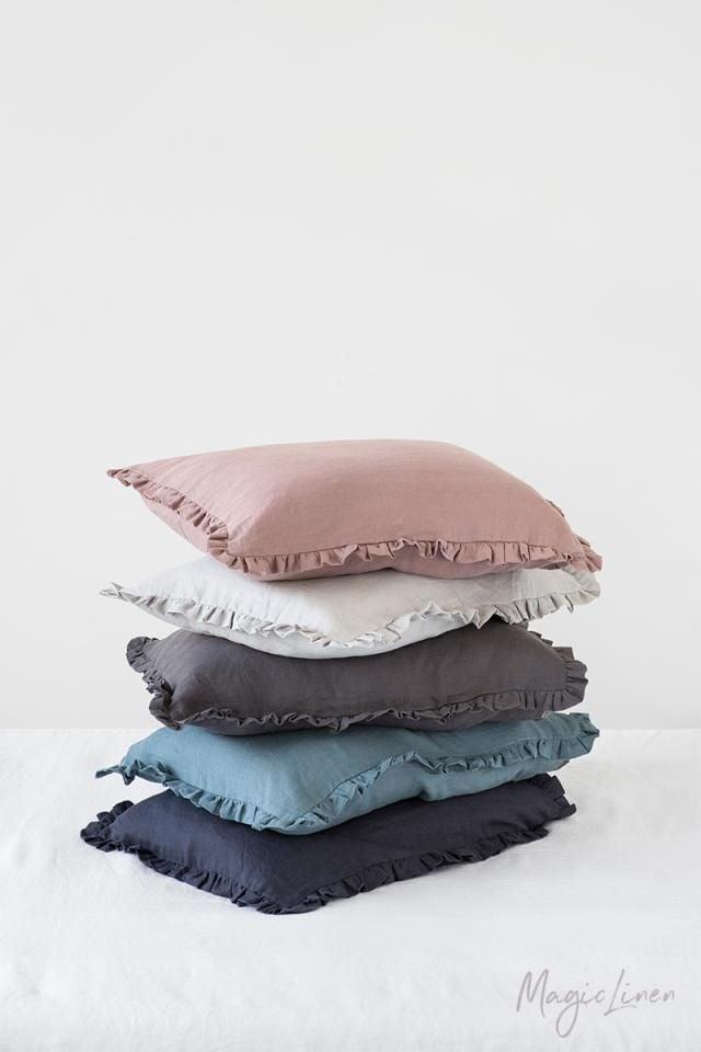 Magic Linen Ruffle Trim Pillowcase