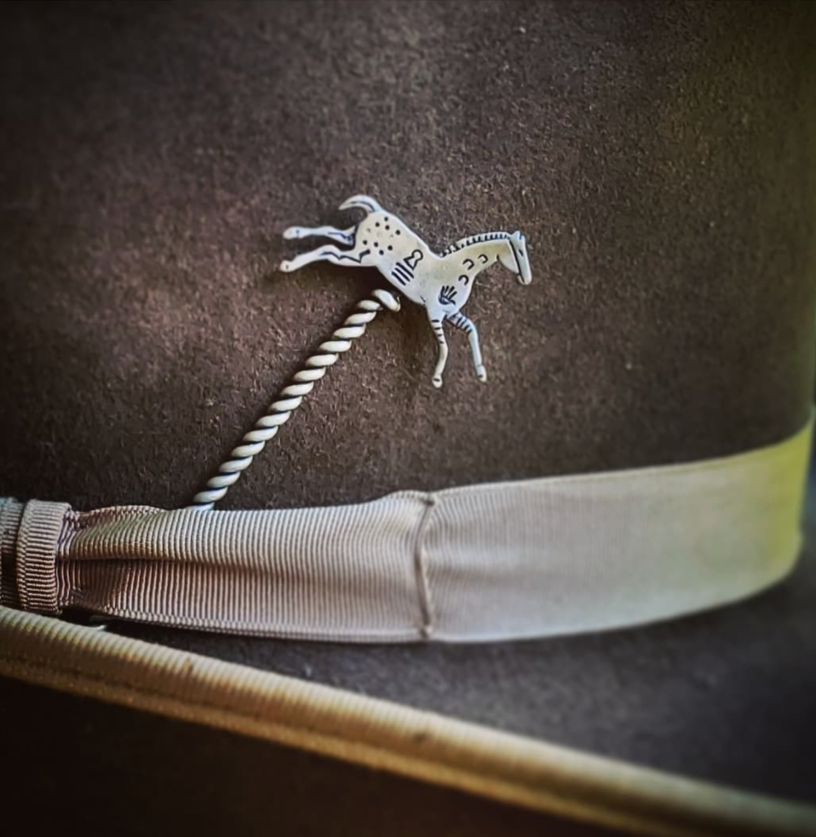 indian pony hat pin