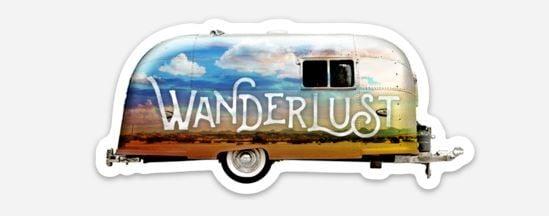 wanderlust airstream sticker