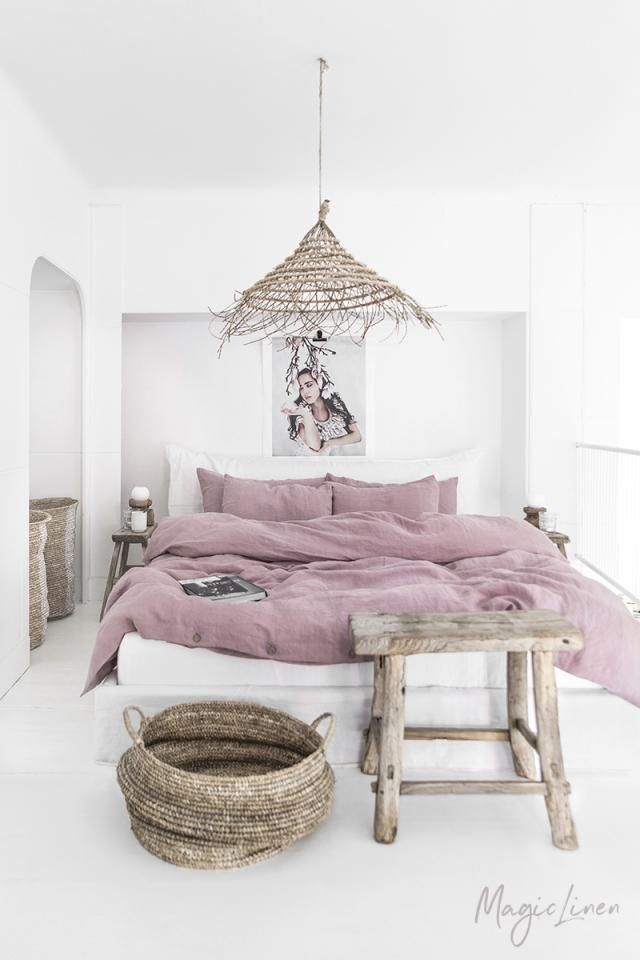 Magic Linen Woodrose Duvet Cover