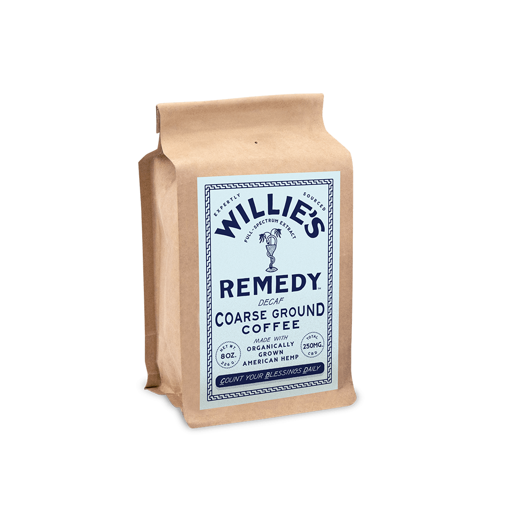 Willie's Remedy Decaf Blend - 8 oz ground coffee