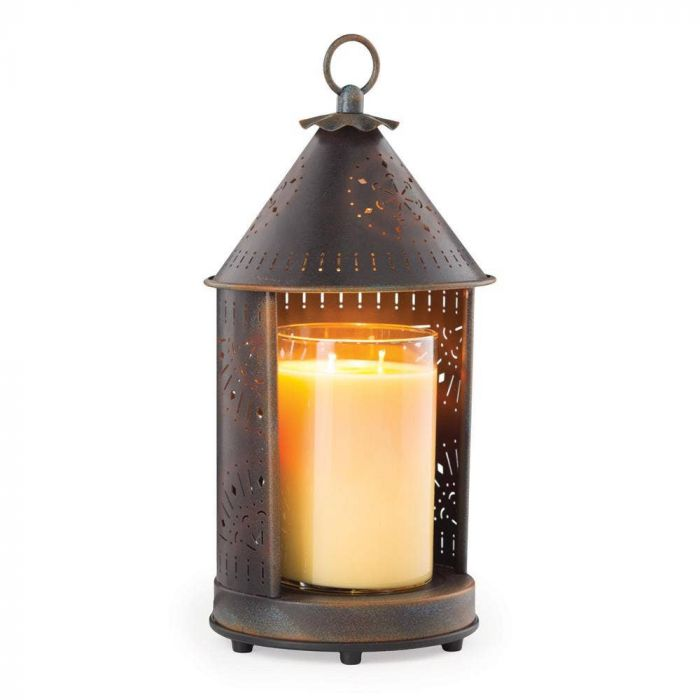 Punched Metal Candle Warmer Lantern