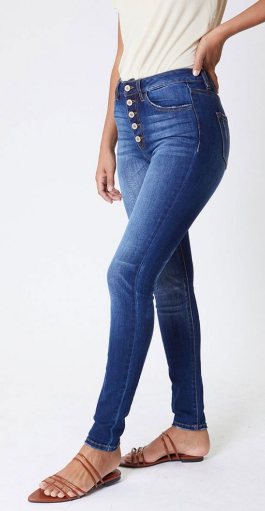 Kancan jacqlyn button up curvy jeans