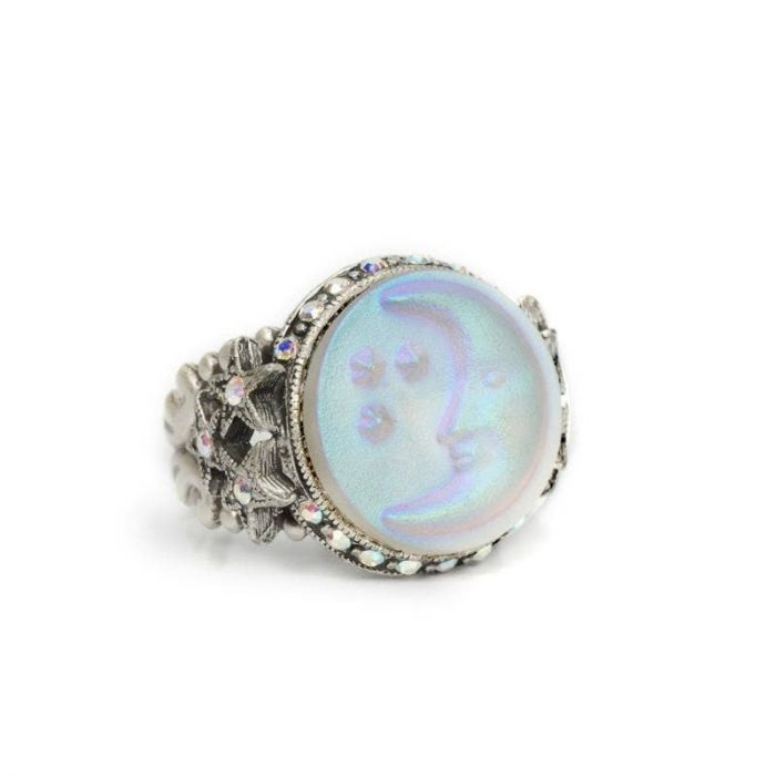 opalescent moon ring